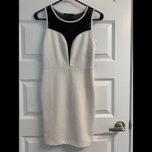 Forever 21 White and Black Sheet Dress